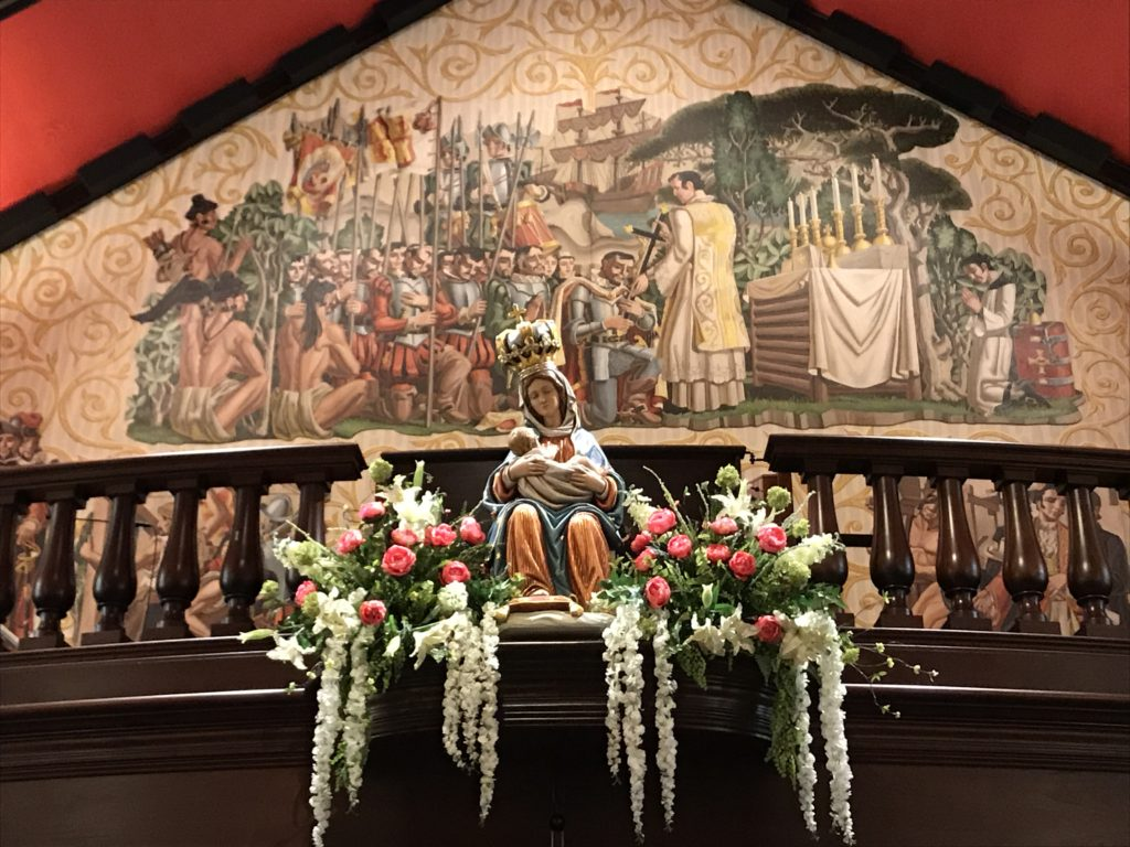 Mary statue in Cathedral St Augustine