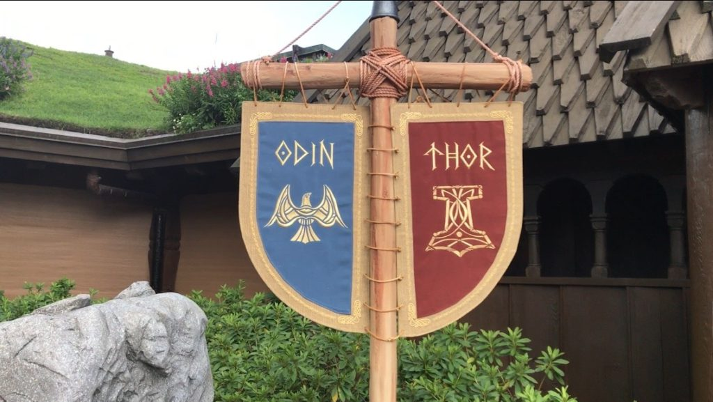 Thor and Odin sign at Epcot