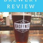 Pint glass of beer at Khoffner Brewery