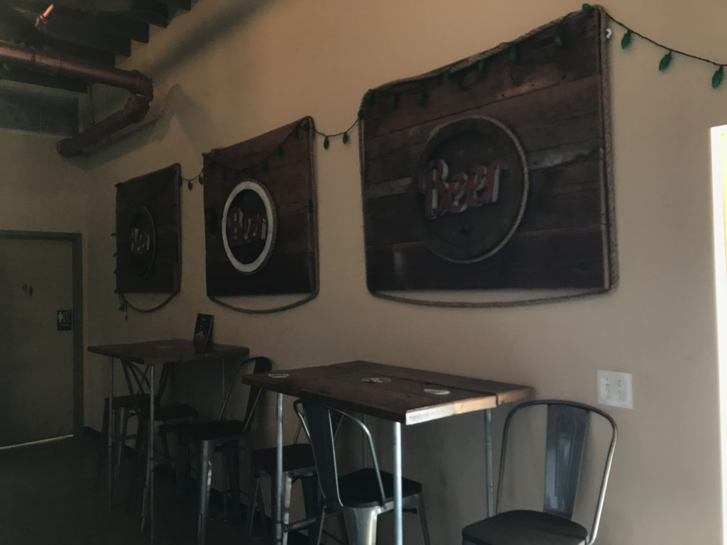 High tables at brewery