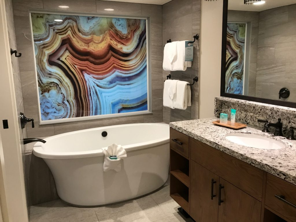 Bathroom tour of Disney's Copper Creek Villas at Wilderness Lodge Review