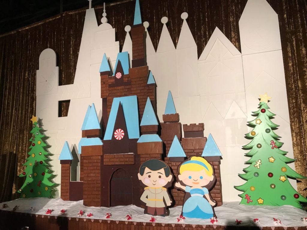 Cinderella gingerbread castle at Disney's Contemporary Resort