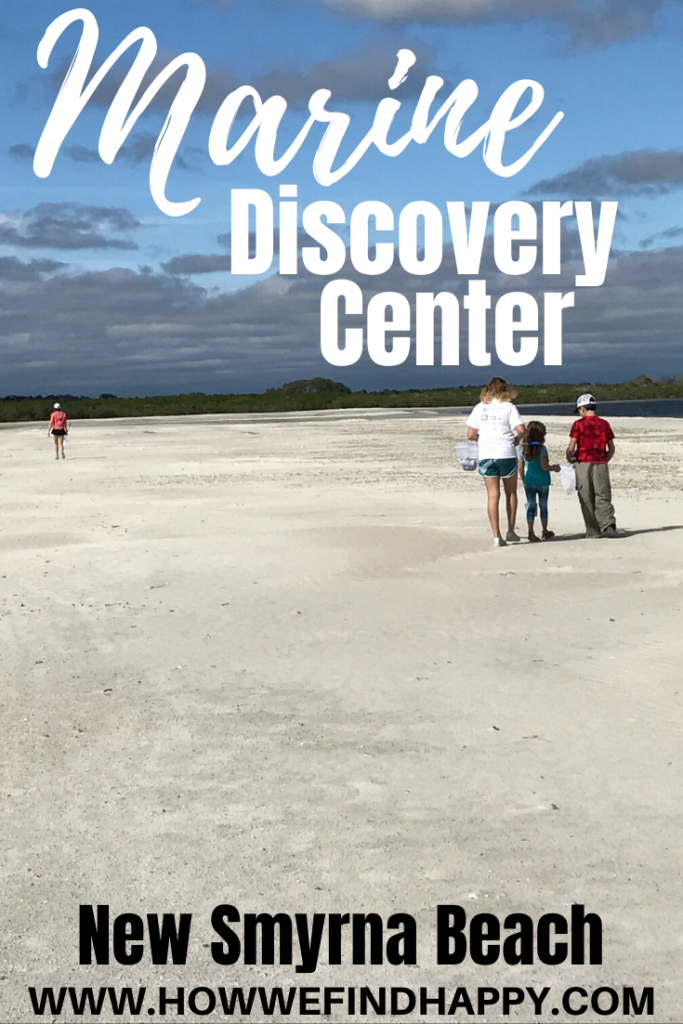 pinterest image of kids on beach for Marine Discovery Center