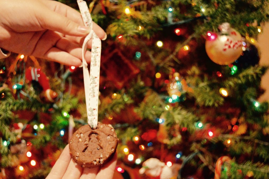 DIY Cinnamon Ornaments by tree