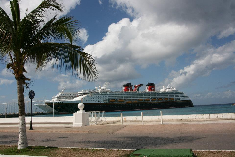 Disney Cruise at port in Cancun