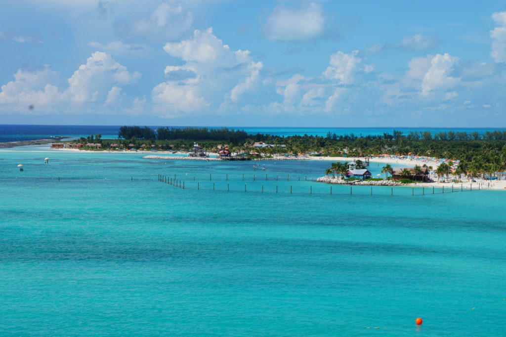 View of Castaway Cay from ship