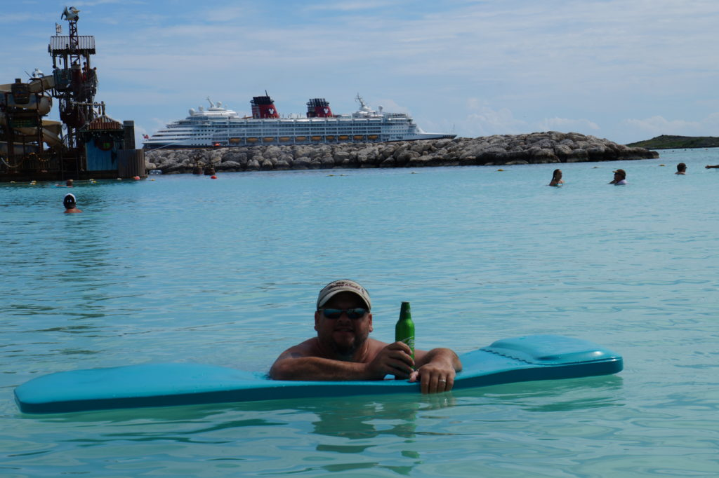 Man in water at Castaway Cay