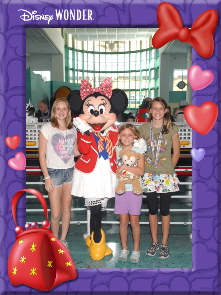 Disney Cruise Line photo pass with  Minnie