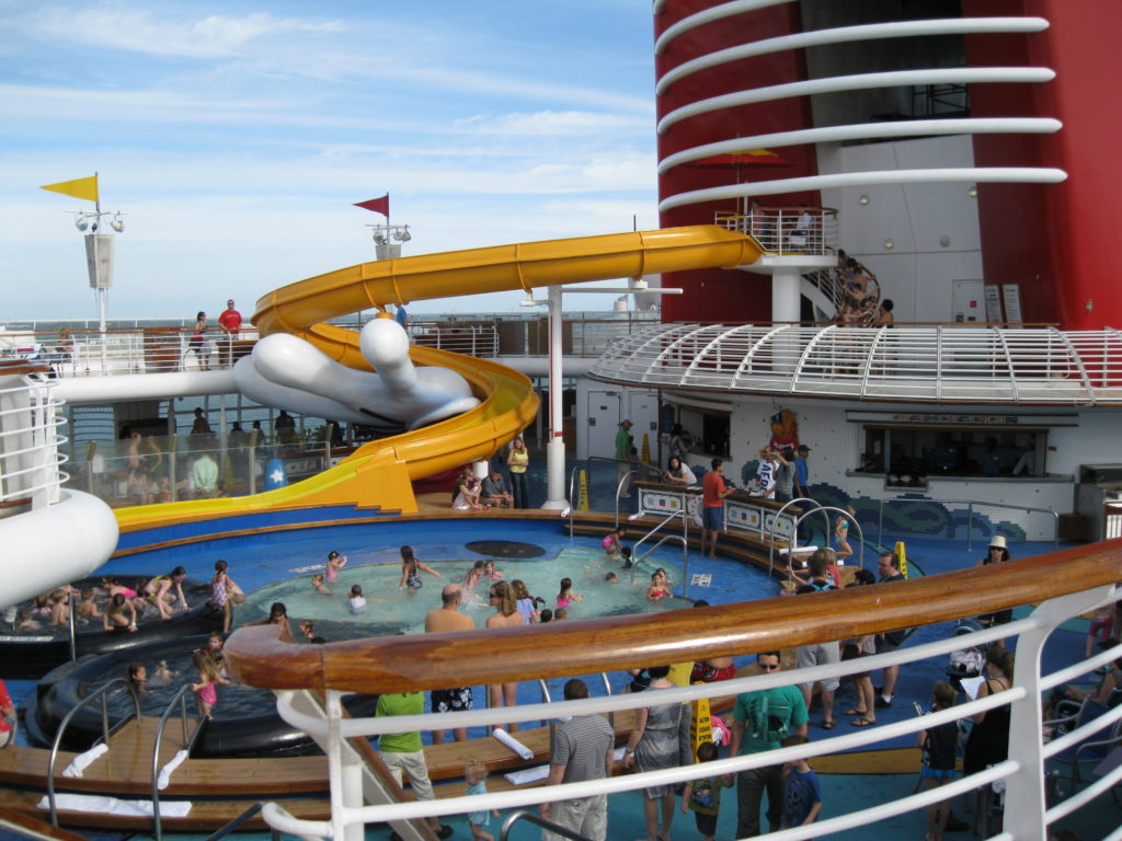 Pool deck on the Disney Dream