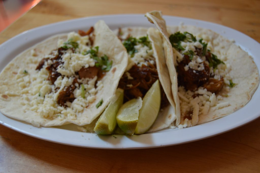 Fresh pork tacos at Red River Rock House