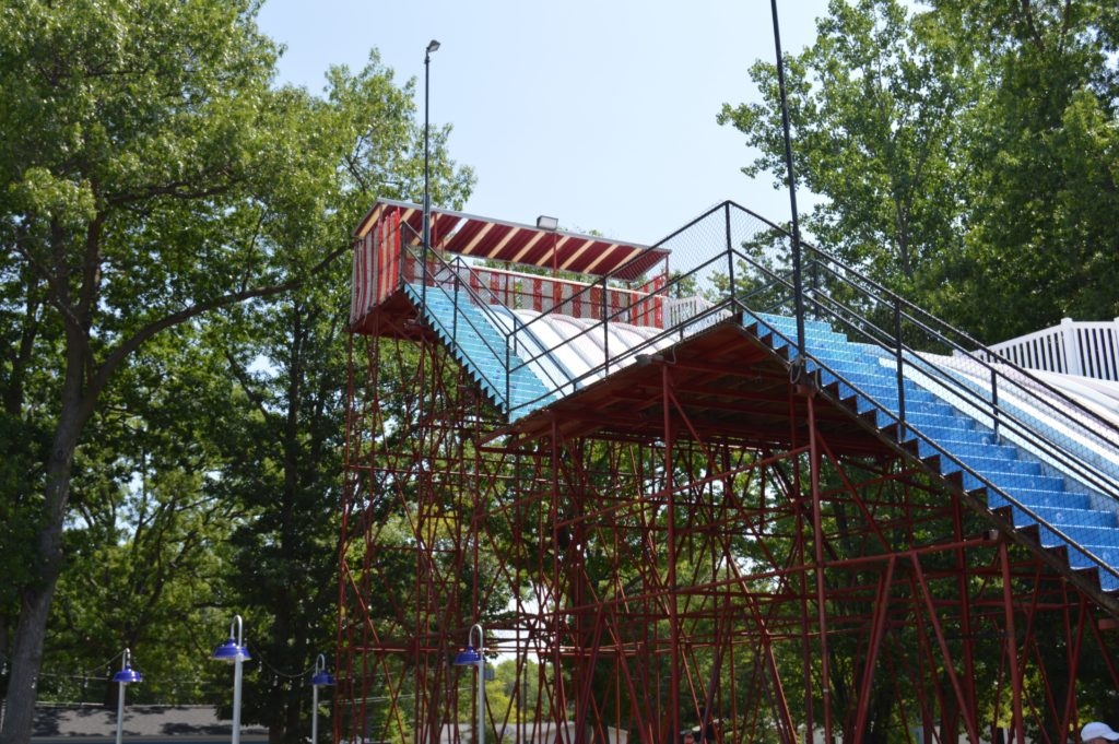 Large slide at Key North Family Fun Center, places to visit in Michigan's Thumb