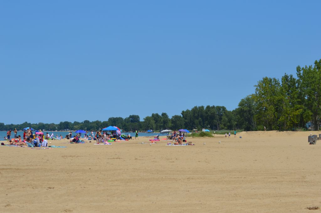 Beach at Caseville County Park in Michigan, places to visit in Michigan's Thumb