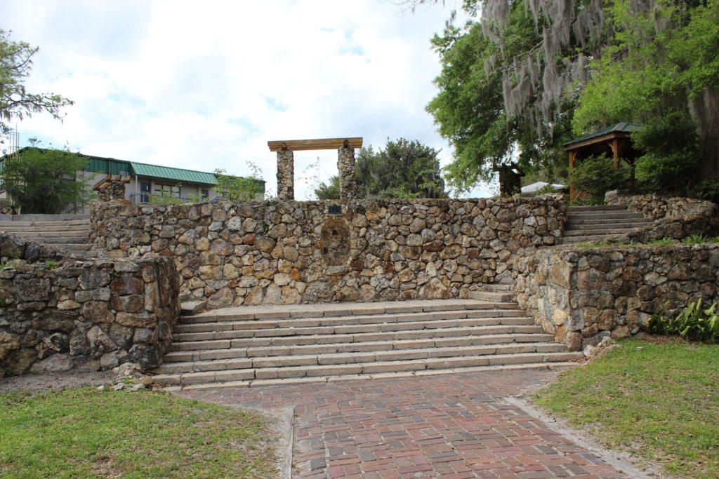 Stone stairway to ravine