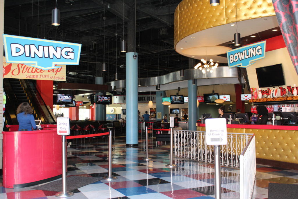 Entrance to Splitsville Disney Springs, the beginning to make lasting memories