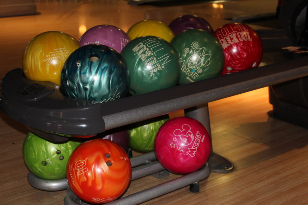 bowling balls at Splitsville Disney Springs