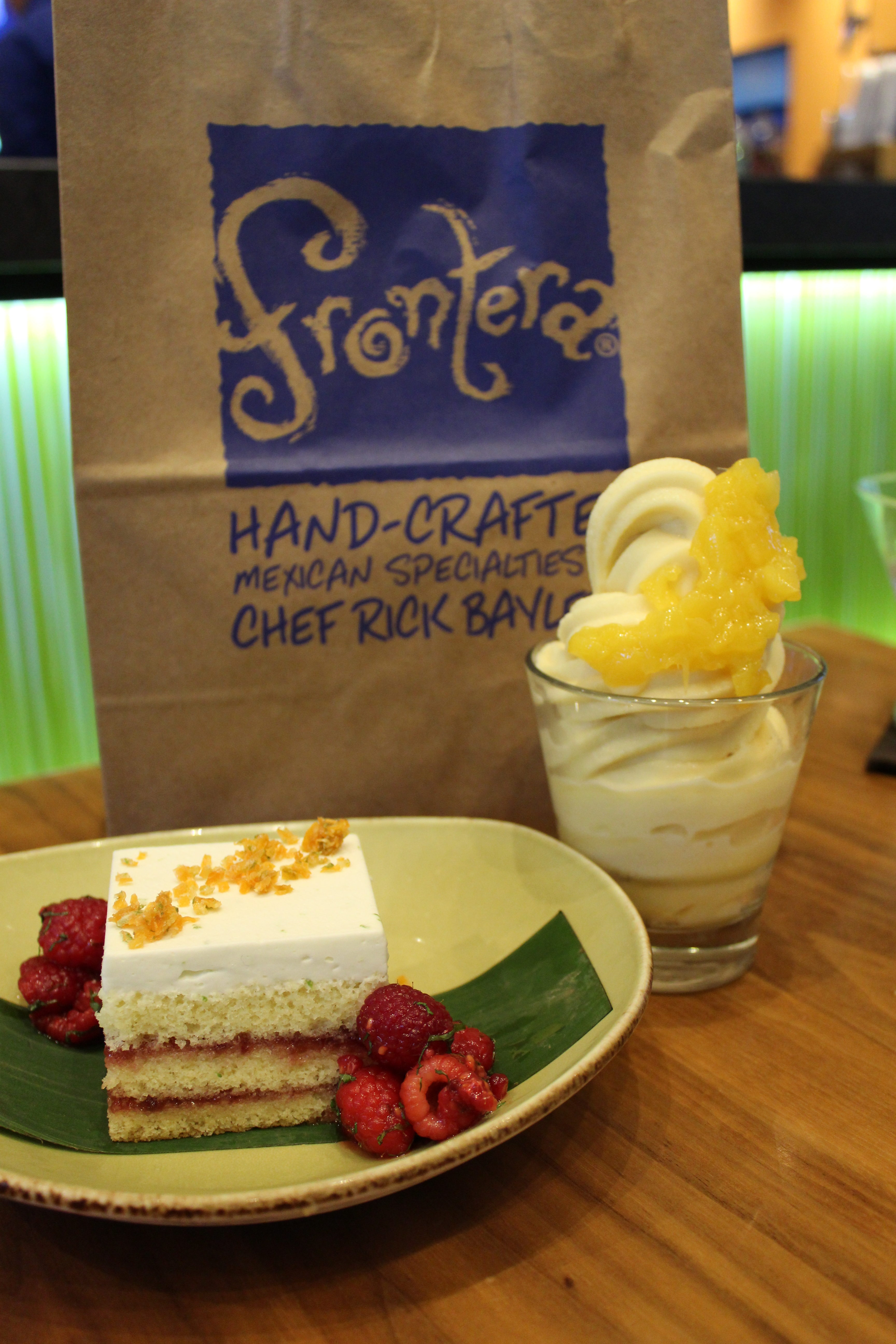 Raspberry-Habanero Cake on the new seasonal menu at Frontera Cocina