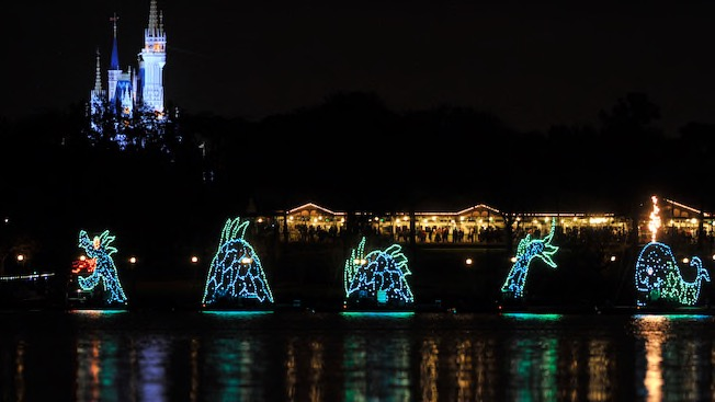 Disney's Water Pageant seen at Fort Wilderness