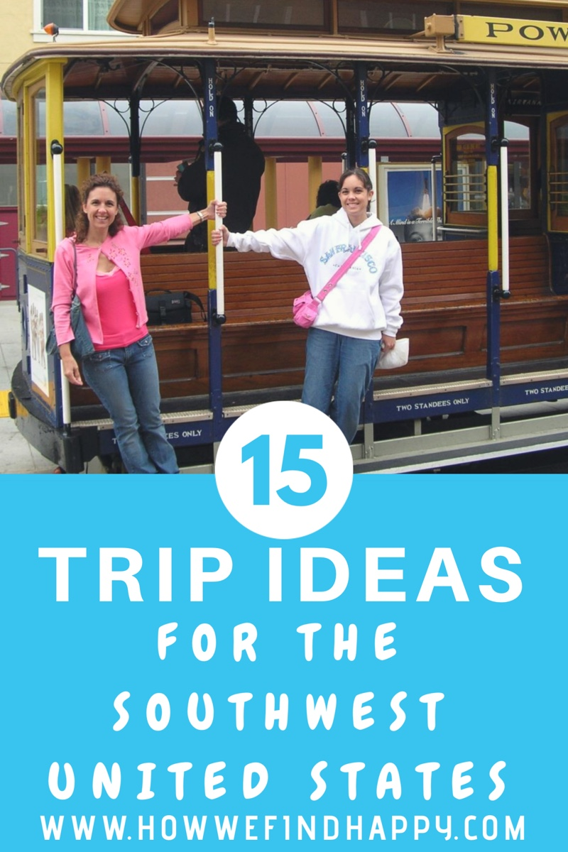 Pinterest Graphic with two ladies on trolley