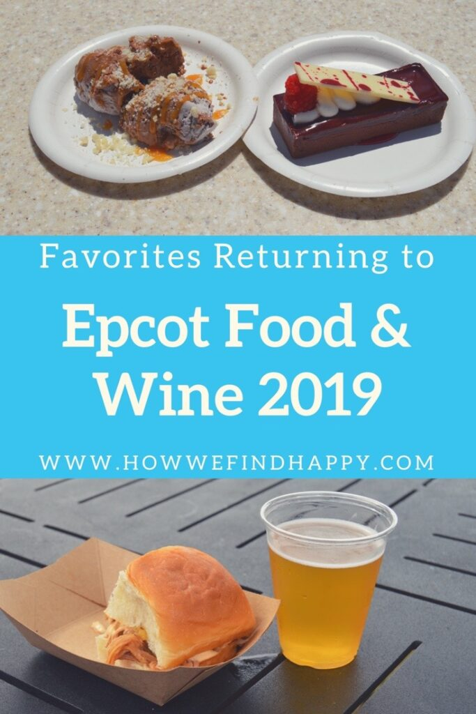 Pinterest graphic for Epcot Food & Wine 2019