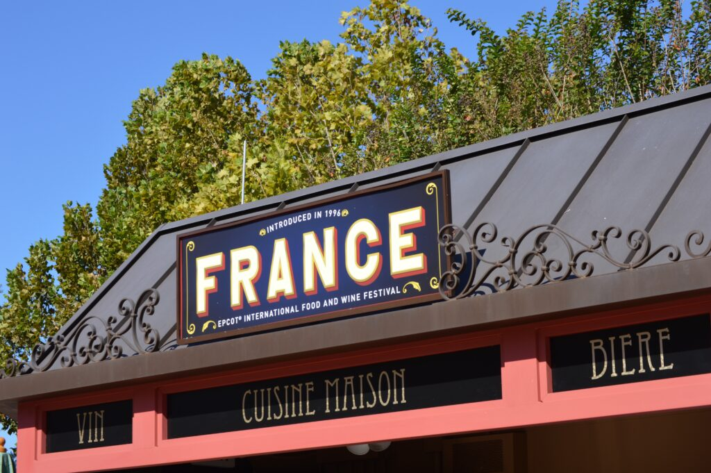 France food booth at Epcot