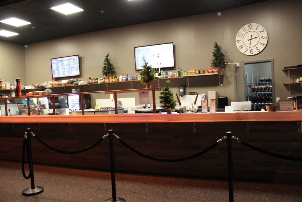 LeChalet food counter at Winterland Adventures