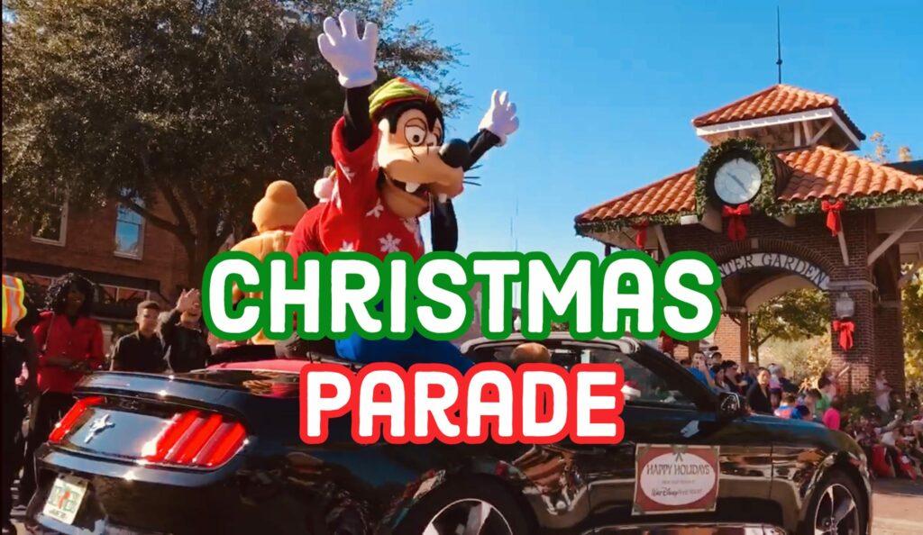 Goofy in Winter Garden Christmas Parade