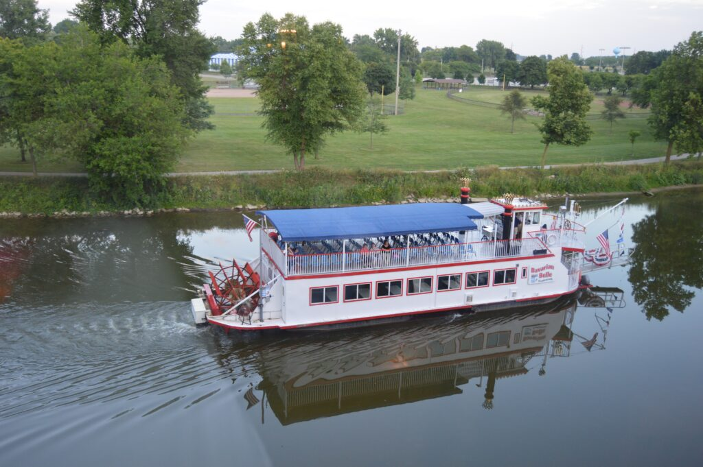 Bavarian Belle river boat on Cass River from Frankenmuth Brewery
