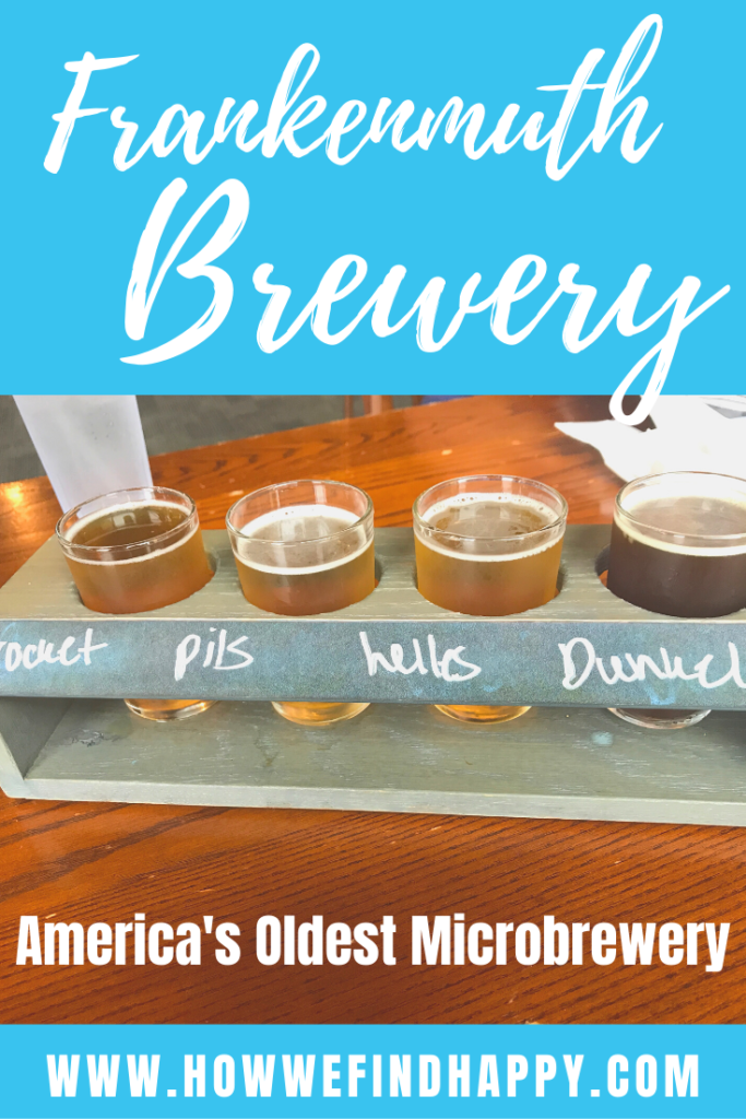 Beer flight at America's Oldest Microbrewery