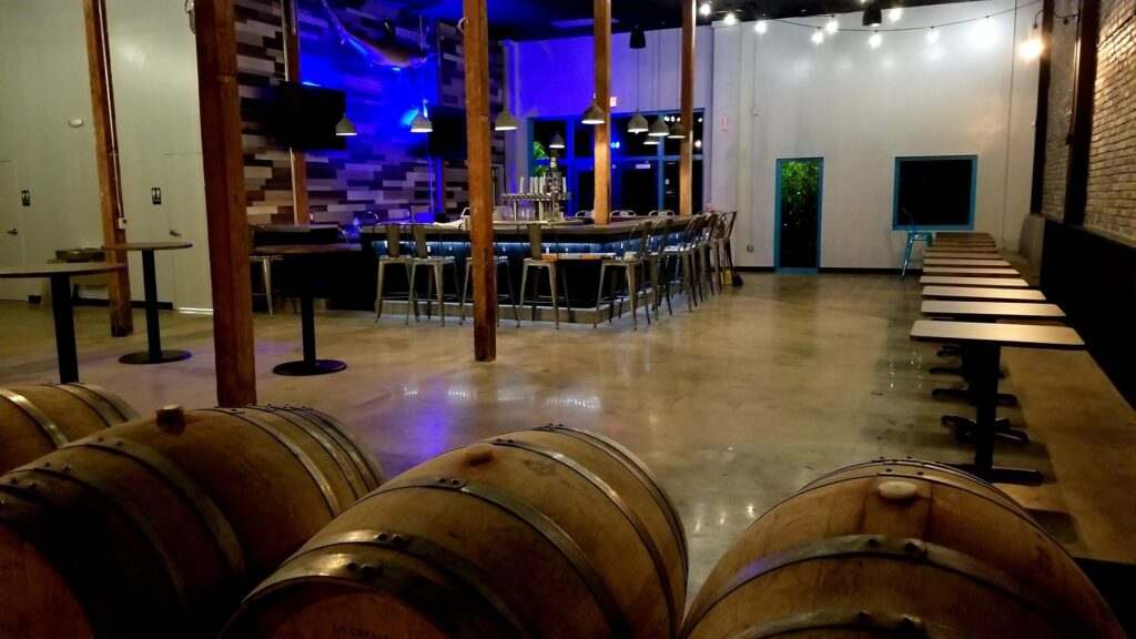 Inside seating for Gulf Stream Brewing in Fort Lauderdale