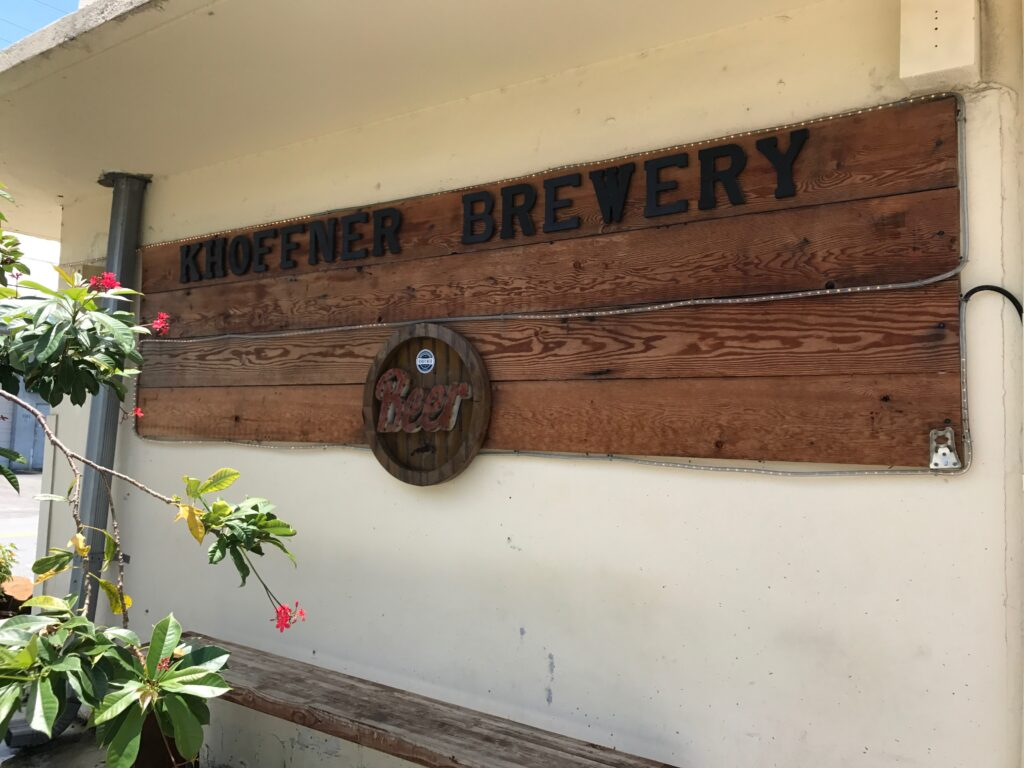 Khoffner Brewery sign in Fort Lauderdale