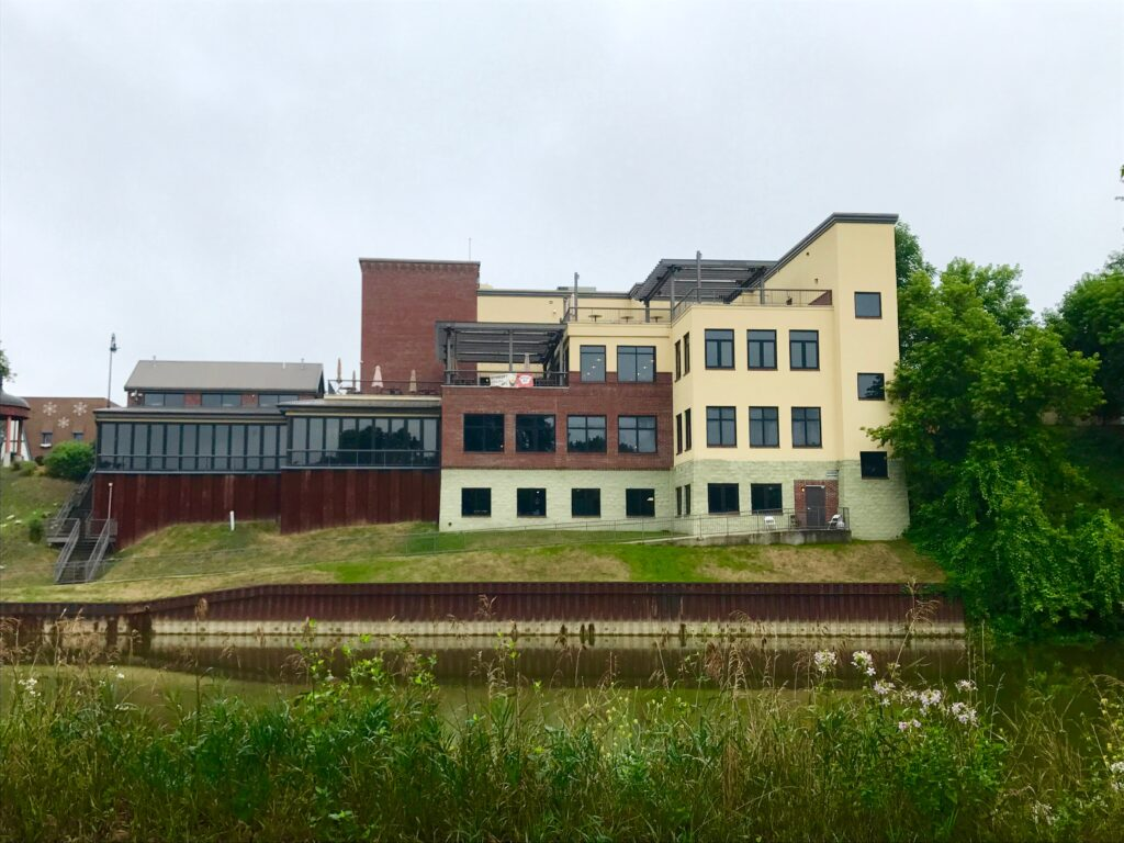 View and America's Oldest Microbrewery from across the Cass River
