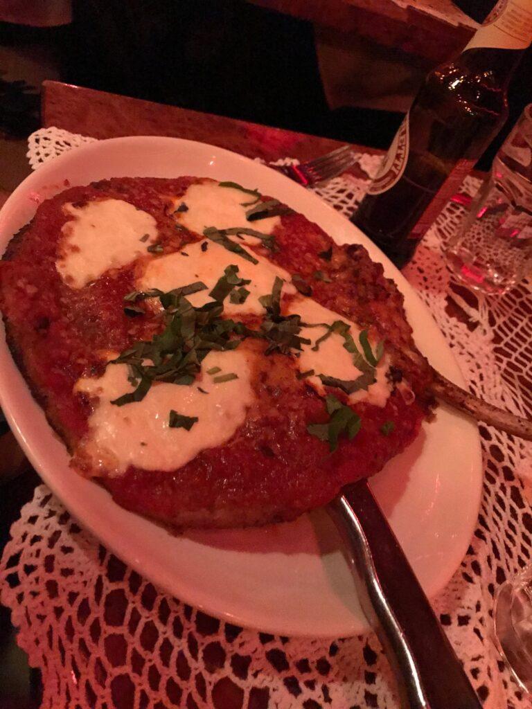 Veal Parmesan at Filomena's in DC