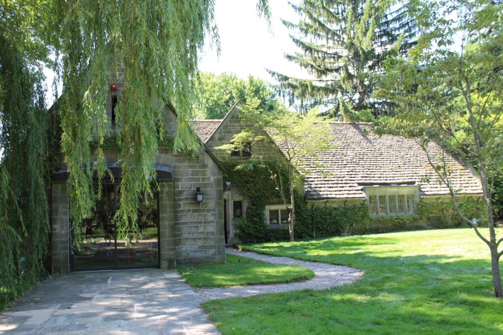 Pool house at Ford House, home of Edsel Ford