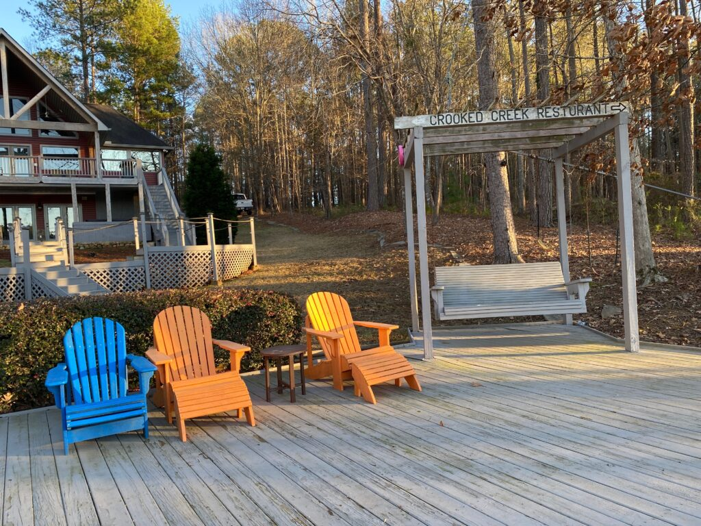 Beach deck seating at Southern Water's Retreat