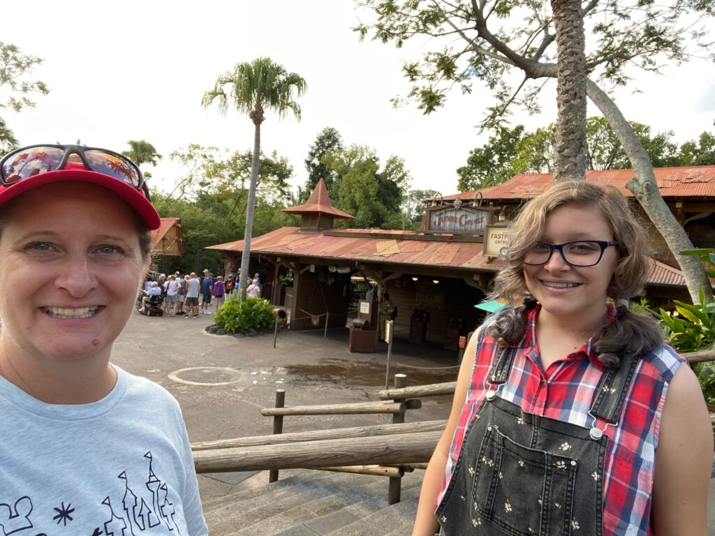 Magic Kingdom Original Attraction Jungle Cruise with mom and daughter in front