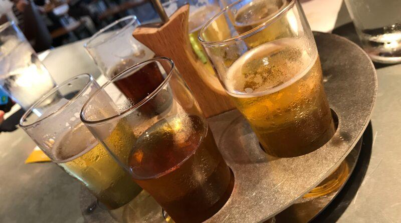 Beer Flight at Arbor Brewing Plymouth