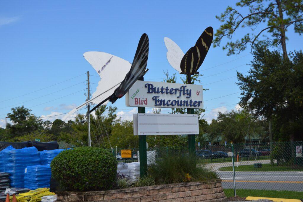 Lukas Nursery Butterfly Encounter sign