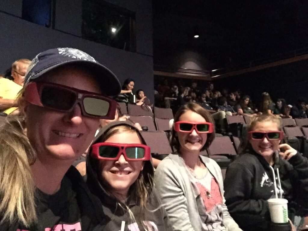 family with 3D glasses at Orlando Science Center
