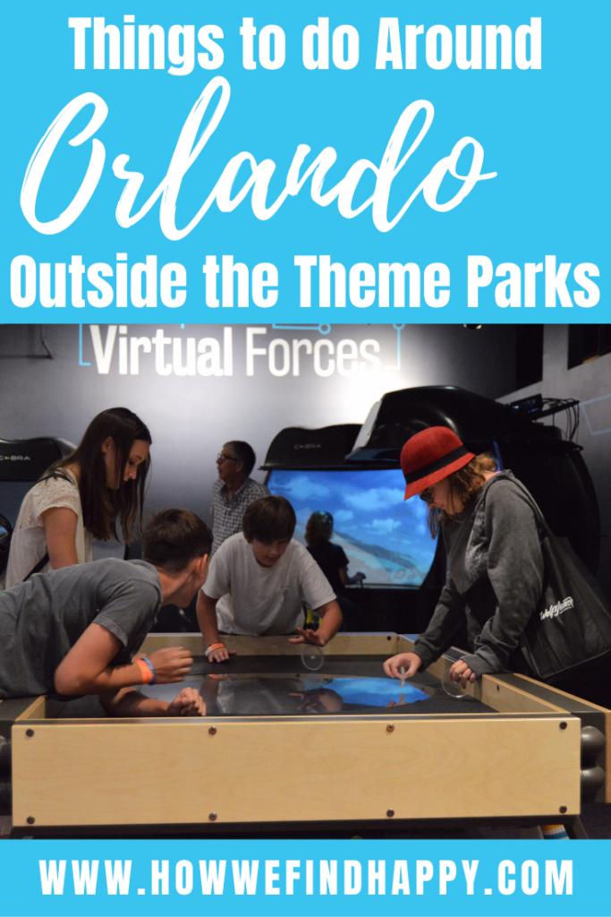 Things to do around Orlando Pinterest image