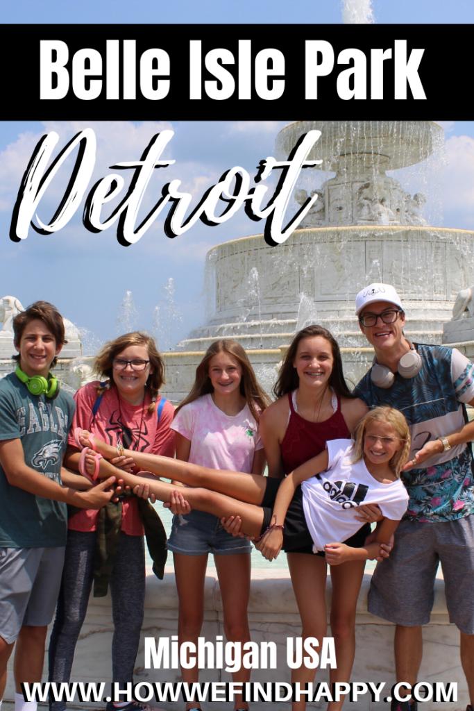 Belle Isle Park Detroit Pinterest image