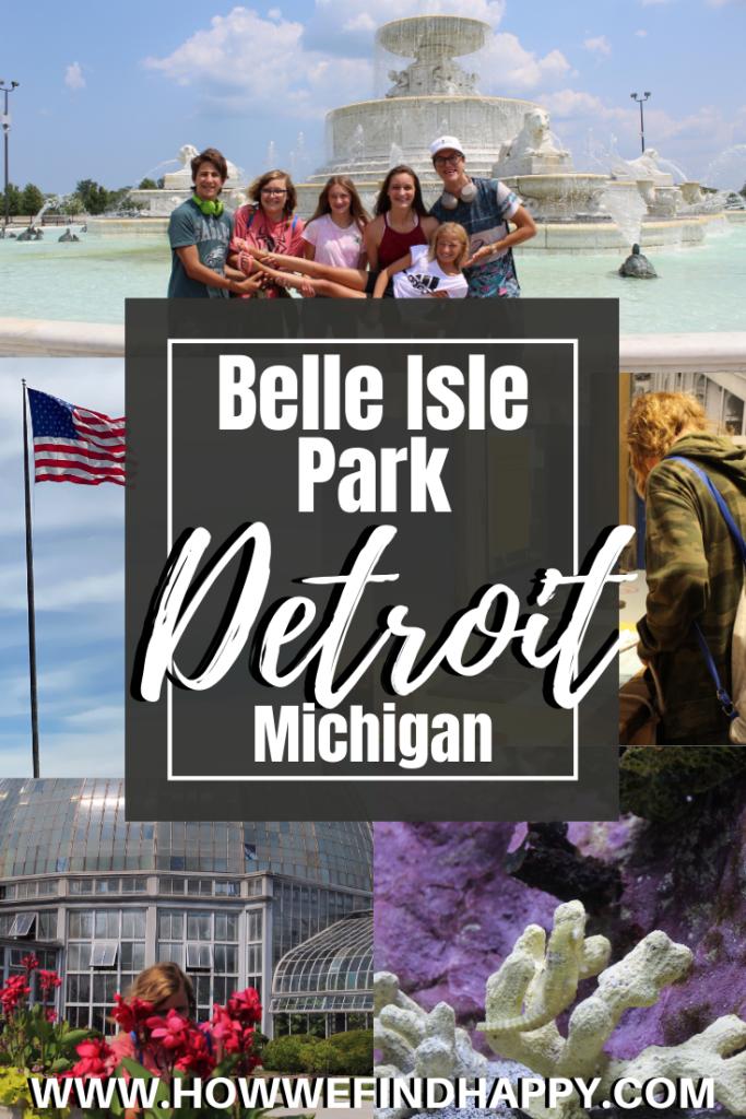Pinterest image for Belle Isle Park Detroit