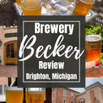 Collage of beer pictures from Brewery Becker for Pinterest