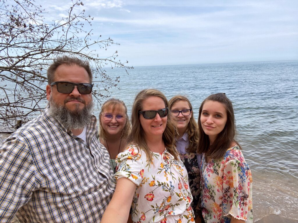 Gazdecki Family at Lake Michigan