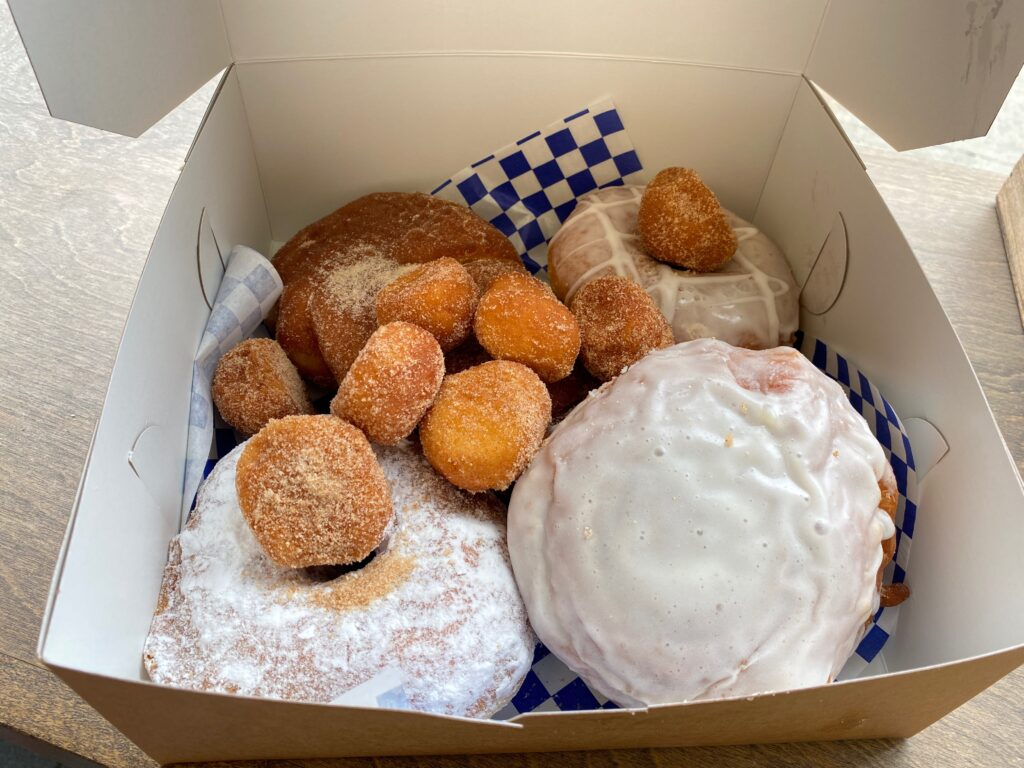 DG Donuts in a box