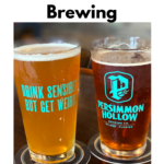 Pinterest image with beer glasses