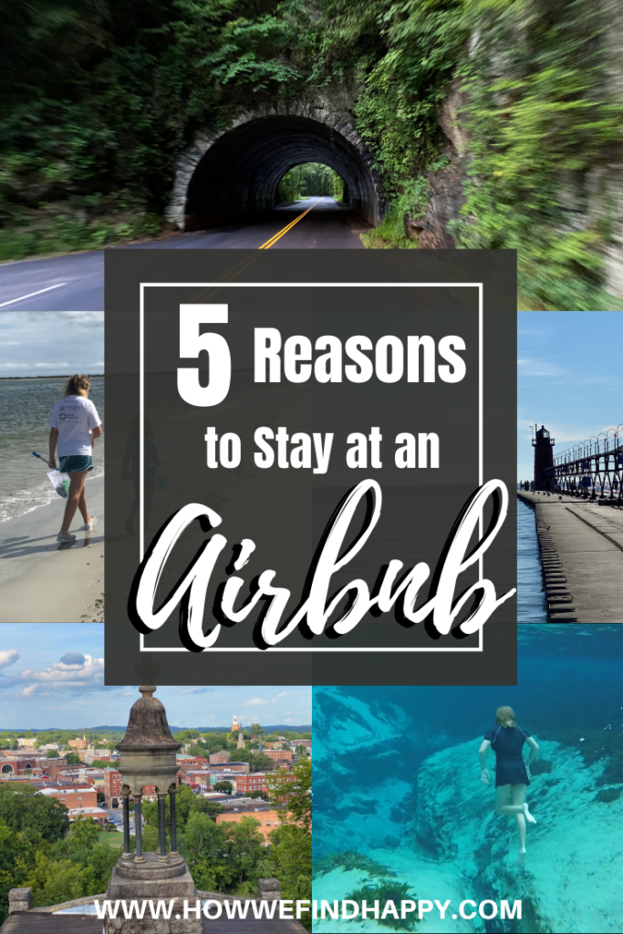 Pinterest image reasons to stay at Airbnb