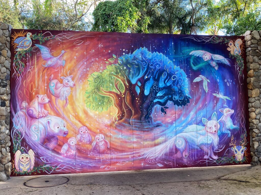 Gate holiday mural at animal kingdom