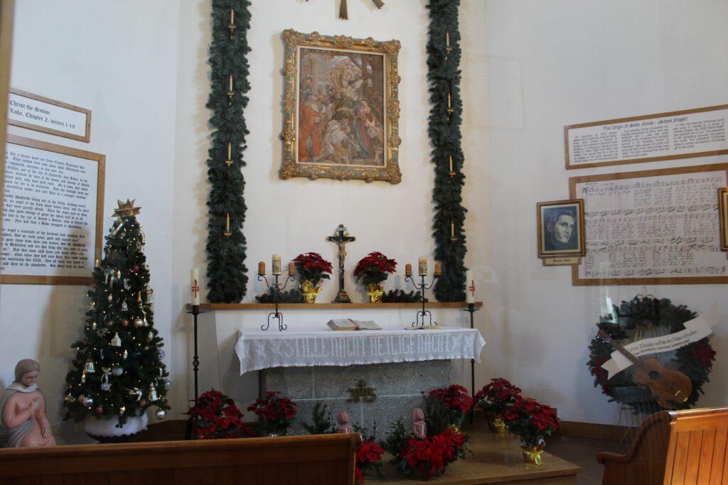 Inside Silent Night Chapel Frankenmuth