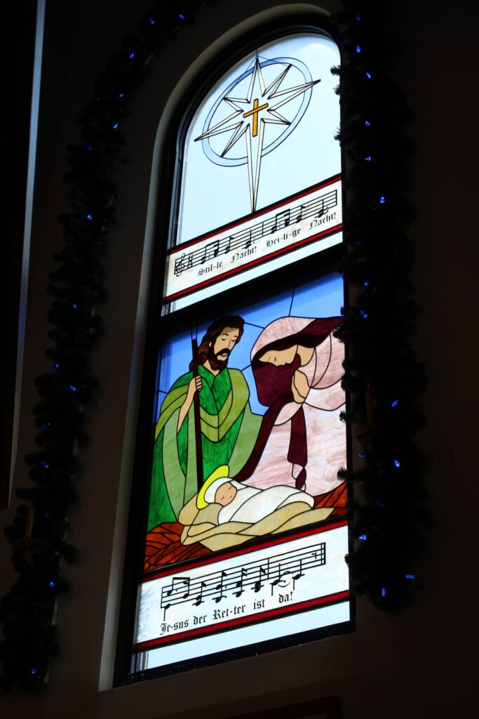 Silent Night Chapel Stained Glass Window