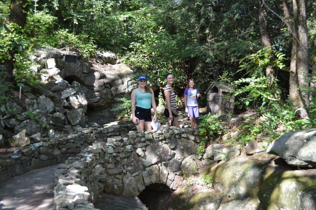 Girls on Rock Bridge in Northwest Georgia
